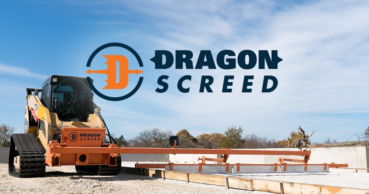 Dragon Screed is a concrete screed and gravel grader that attaches to a skid steer. It screeds concrete and levels gravel base faster than any other screed on the market.