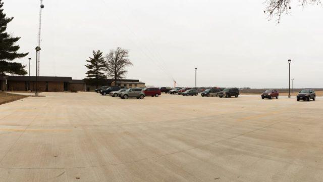 Large Concrete Parking Lot