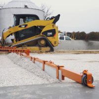 Skid Steer Powered Concrete Screed Machine and Grave Grader