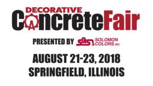 Decorative Concrete Fair Event Banner