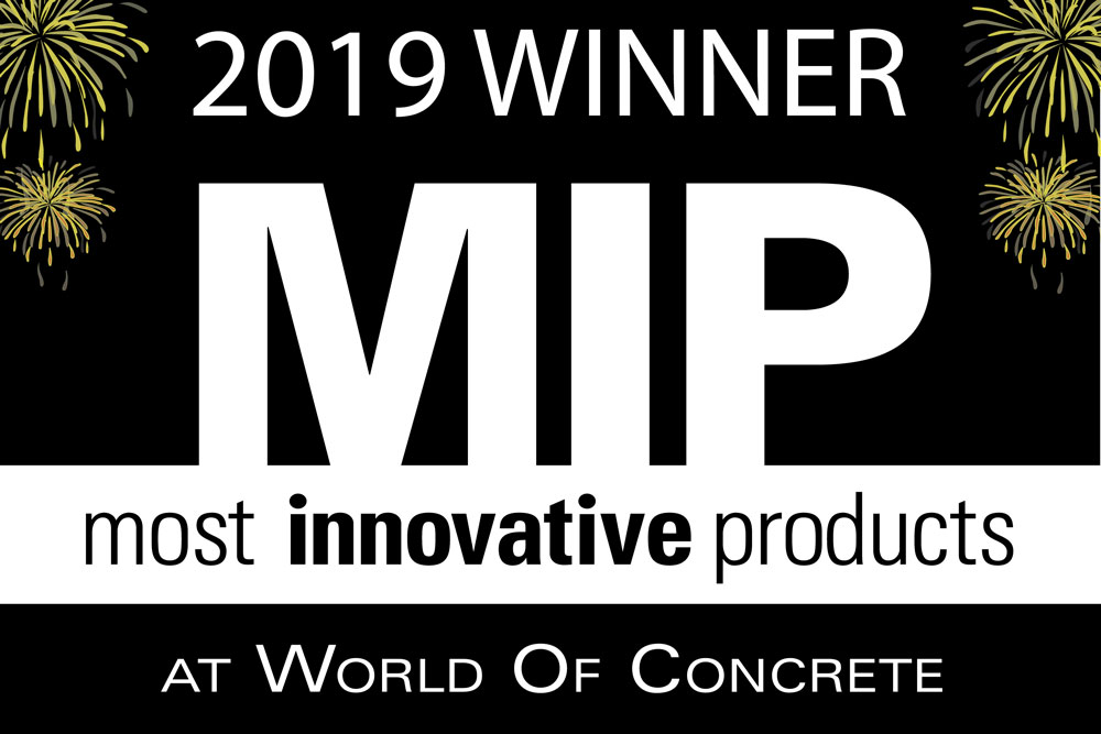 World of Concrete Most Innovative Product Logo - Concrete Screed